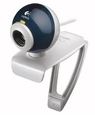 logitech quickcam express webcam white blue. Black Bedroom Furniture Sets. Home Design Ideas