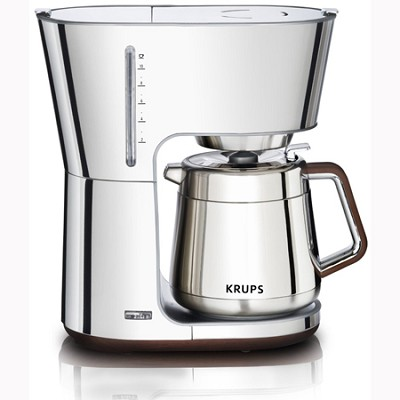 European One Cup Coffee Maker : BuyDig.com - Krups Silver Art Collection 10 European Cup Thermal Carafe Coffee Maker (Silver) KT600