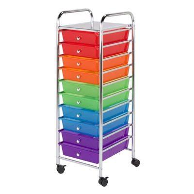 honey can do 10 drawer rolling storage cart. Black Bedroom Furniture Sets. Home Design Ideas
