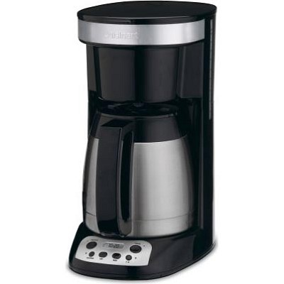 BuyDig.com - Cuisinart Compact Programmable Coffee Maker 10-Cup Thermal Carafe (Black/Stainless)