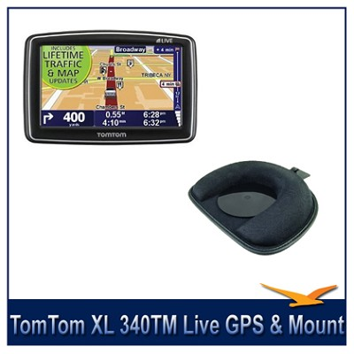 tomtom xl 340tm live 4 3 inch gps w lifetime traffic and map updates tomtom gps dash. Black Bedroom Furniture Sets. Home Design Ideas
