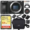 Sony ILCE-6500 a6500 4K Mirrorless Camera Body + 64GB Memory + Case Deals