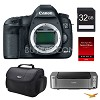 Canon EOS 5D Mark III 22.3MP DSLR Camera + PRO-100 Printer, 64GB Card Deals