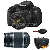 Canon EOS Digital Rebel T4i 18MP Camera w/2 Lenses + Canon .