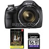 Deals on Sony DSC-H400/B 63x Optical Zoom 20.1MP HD Digital Camera + Adobe LR5
