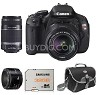 Canon EOS Digital Rebel T3i 18MP SLR Camera w/2 Lenses + 32GB Card + Gadget Bag +  Canon Pro 9000 Printer