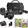 Nikon D3300 24.2MP Camera Refurb + 18-55 & 55-200 Lenses + WiFi Adapter Kit Deals
