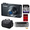 Canon PowerShot S110 Digital Camera, 16GB Card/ Pro 100 Printer/Paper Kit Deals