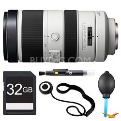 SAL70400G2 G Series 70-400mm f/4-5.6 Super Telephoto Lens 32 GB Bundle