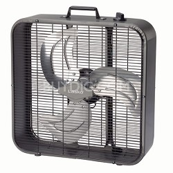Metal Box Fan, 20-Inch- Black - B20725
