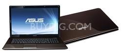 N61JQ-A1 Intel i7-720QM, 16-inch Notebook - Dark Brown