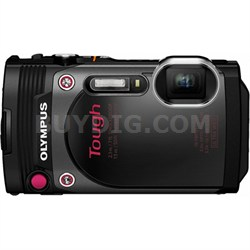 "TG-870 Tough Waterproof 16MP Black Digital Camera with AF Lock and 3"" LCD"
