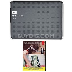My Passport Ultra 2 TB USB 3.0 HDD Titanium & Photoshop Premiere Elements 12