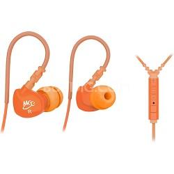M6P Sports In-Ear Headphones w/ Universal Inline Mic, Remote, & Volume (Orange)