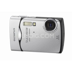 Stylus 850 SW 8MP Shockproof Waterproof Digital Camera (Silver)