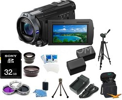 HDR-CX760V HD Camcorder 24.1 MP Stills 10x Optical Zoom Ultimate Bundle (Black)