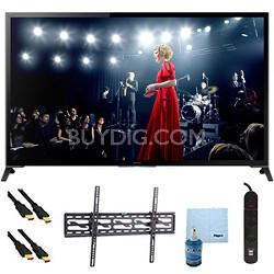"""65"""" XBR65X950B 4K UHD 3D Smart TV Motionflow XR 960 Tilt Mount & Hook-Up Bundle"""