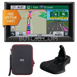 """nuvi 68LM 6"""" Essential Series 2015 GPS w/ Lifetime Maps Mount & Case Bundle"""