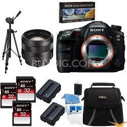 Alpha SLT-A99V 24.3 MP SLR Camera (Black) + SAL 85mm f1.4 Full Frame Lens