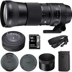 150-600mm F5-6.3 DG OS HSM Zoom Lens Contemporary for Sigma w/USB Dock Kit