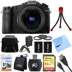DSC-RX10M II Cyber-shot 4K Video 20.1 MP Digital Still Camera 64GB Card Bundle