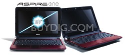 """Aspire one 10.1"""" Netbook PC - Ruby Red (AOD250-1383)"""