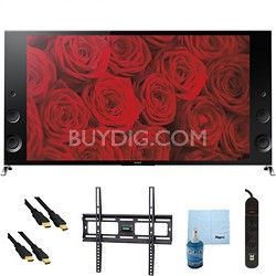 "55"" 120Hz 3D LED X900B 4K Ultra HD TV Plus Mount & Hook-Up Bundle - XBR55X900B"