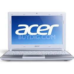 "Aspire One AOD257-1663 10.1"" Netbook PC (White) - Intel Atom Dual-Core N570 Proc"