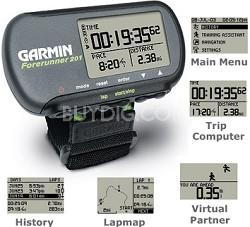Forerunner 201 handheld GPS receiver w/ built-in antenna