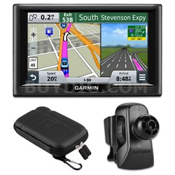 "nuvi 57 5.0""-inch Essential Series 2015 GPS System Vent Mount & Case Bundle"