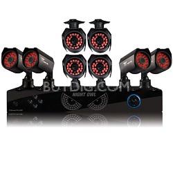 8 Channel DVR w/ 1TB HDD, 8 Hi-Resolution Cameras (2 Audio Enabled) -REFURBISHED