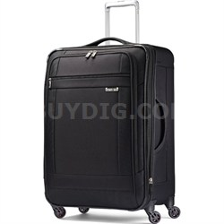 "SoLyte 25"" Expandable Spinner Upright Suitcase Luggage - Black"