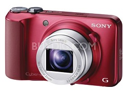 Cyber-shot DSC-H90 16.1 MP 16x Optical Zoom HD Video Superzoom Camera (Red)
