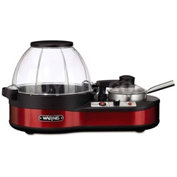 Popcorn Maker with Melting Station, Red
