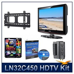 LN32C450 HDTV + Hook-up Kit + Power Protection + Calibration + Flat Mount