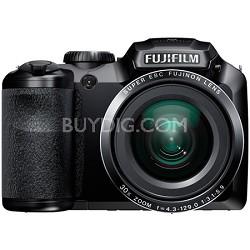 FinePix S6800 16 MP 30x Wide Angle Zoom Digital Camera - Black - OPEN BOX