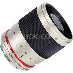 300mm F6.3 Mirror Lens for Micro 4/3 - Silver