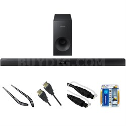 2.1 Channel 120 Watt Audio Soundbar with Bluetooth HW-J355 w/ Bracket Kit