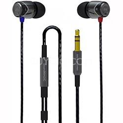 E10 - Noise Isolating In-Ear Earphones (Black/Gunmetal)