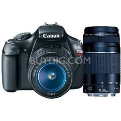 EOS Rebel T3 SLR Digital Camera w/ 18-55mm & 75-300mm - Bundle Deal