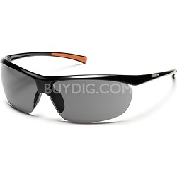 Zephy Sunglasses Black Frame/Gray Polarized Lens
