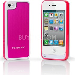 Prolix Power iPhone 4/4S Protective External Battery Case - Aluminum (Rose)