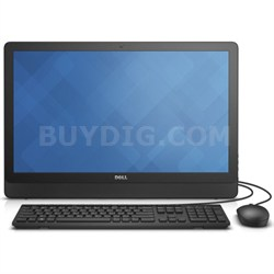 "Inspiron 24 3000 i3455-4040BLK 23.8"" Desktop PC - AMD E2 7110 1.8 GHz Processor"