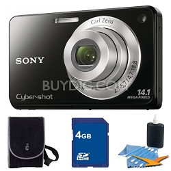 Cyber-shot DSC-W560 Black Digital Camera 4GB Bundle