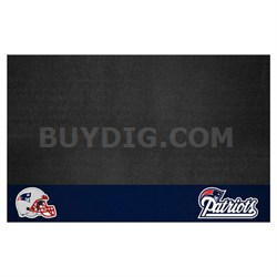 NFL New England Patriots Vinyl Heavy Duty Grill Mat