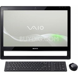 """VAIO 21.5"""" VPCJ118FX/B All-in-One Touch Screen Desktop PC - Intel Core i7-620M"""