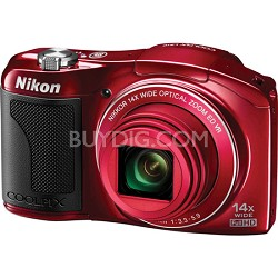 COOLPIX L610 16MP 3.0-inch LCD Red Digital Camera