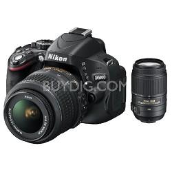 D5100 16.2MP DSLR Camera; 18-55 DX VR & 55-300 DX Vr Bundle Refurbished