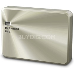 My Passport Ultra Metal 2 TB Champagne Portable Hard Drive