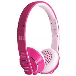 Air-Fi Runaway AF32 Stereo Bluetooth Wireless Headphones w/ Hidden Mic. (Pink)